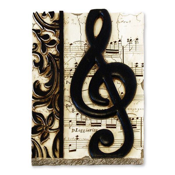 New view gifts accessories treble clef wall for Decor questions