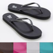 SO Zori Solid Flip-Flops