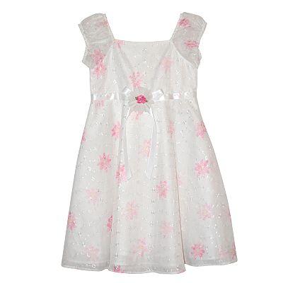 Blueberi Boulevard Floral Eyelet Dress - Girls' 4-6x