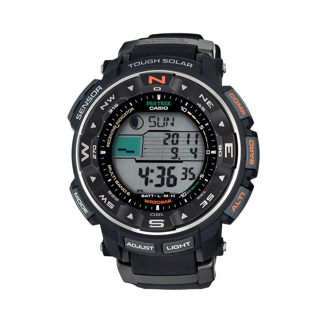 Casio Men's PRO TREK Atomic Solar Digital Chronograph Watch - PRW2500R-1CR