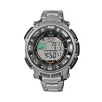Casio Men's PRO TREK Titanium Atomic Solar Digital Chronograph Watch - PRW2500T-7