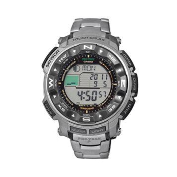 Casio Men's PRO TREK Titanium Atomic Solar Digital Chronograph Watch - PRW2500T-7