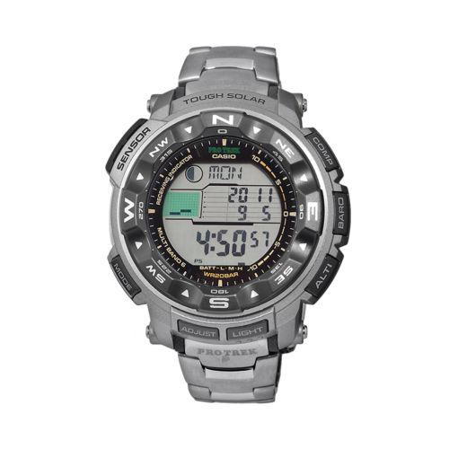 Casio Men's PRO TREK Titanium Atomic Solar Digital Chronograph Watch