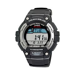 Casio Men's Classic Tough Solar Digital Chronograph Watch - WS220-1AK
