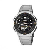 Casio Men's Tough Solar Stainless Steel Analog & Digital Chronograph Watch - AQS800WD-1EVK