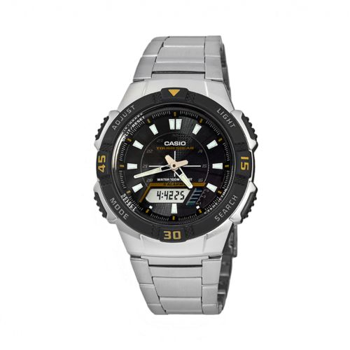 Casio Watch - Men's Tough Solar Stainless Steel Analog and Digital Chronograph