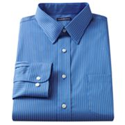 Croft and Barrow Classic-Fit Striped Point-Collar Non-Iron Dress Shirt
