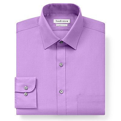 Van Heusen Classic-Fit Pincord Spread-Collar Dress Shirt