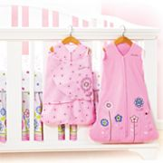 HALO Caroline Flower Safe Sleep Crib Set