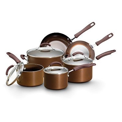 EarthPan Plus 10-pc. Bronze Cookware Set