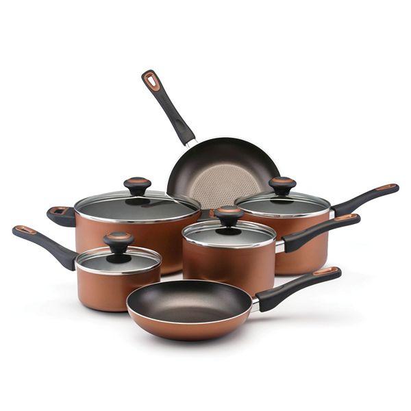 Kohls.com Farberware Farberware 10-pc. Nonstick Copper Cookware Set ...