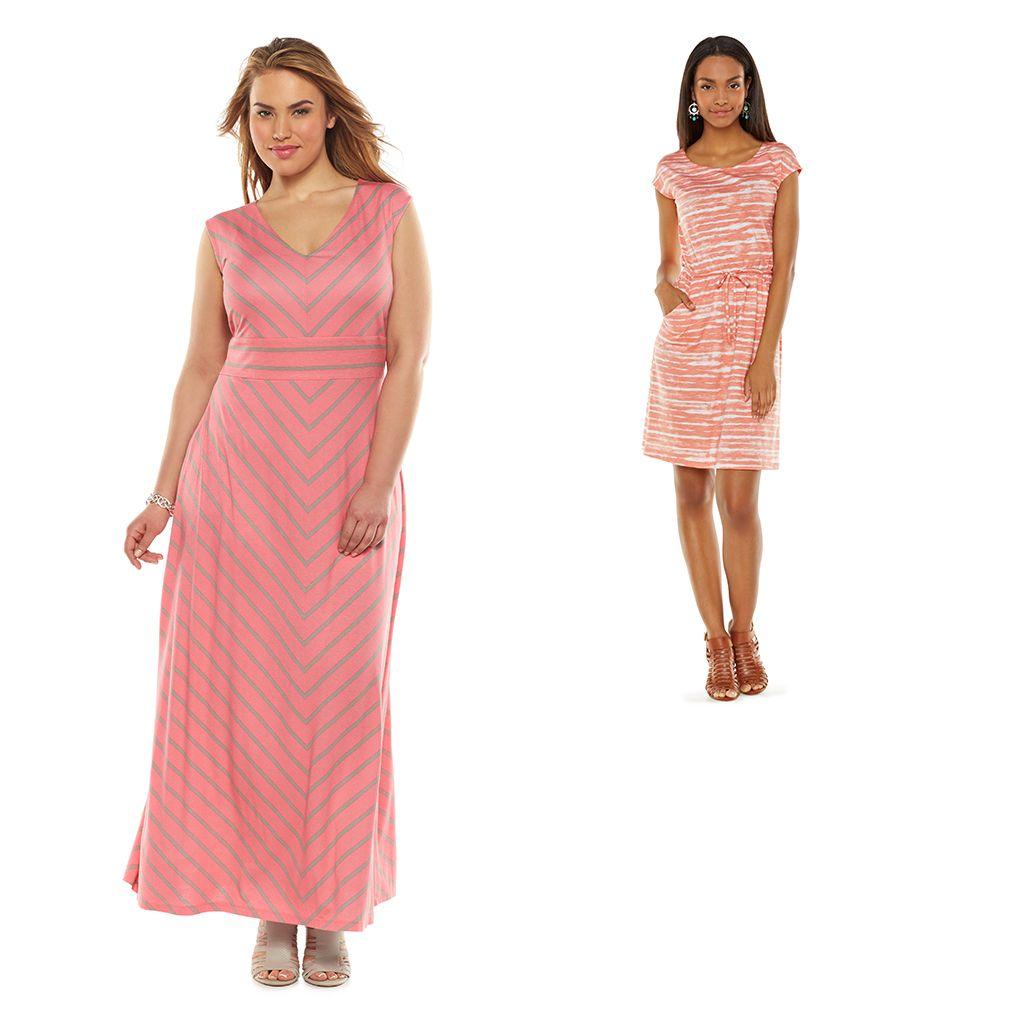plus length cotton t shirt dresses