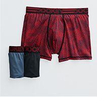 Men's Jockey boxer-brief underwear, in red snakeskin