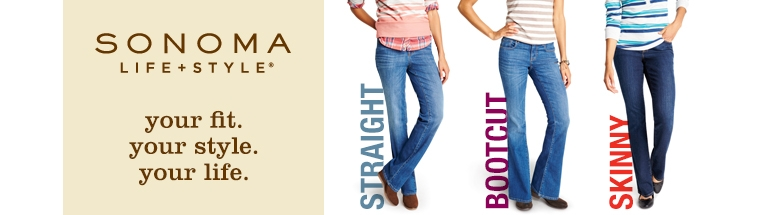 Womens SONOMA life + style Straight Jeans - Bottoms ...