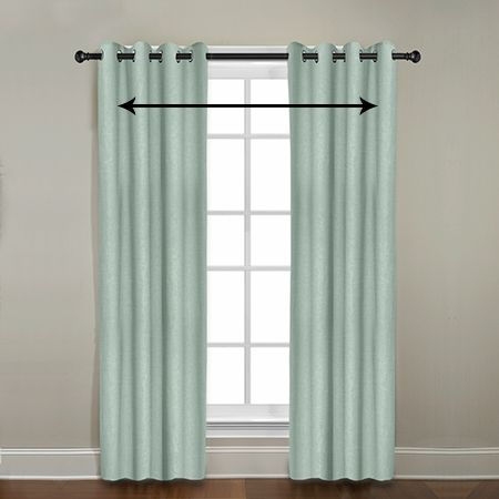how to measure the width of outside mount window treatments
