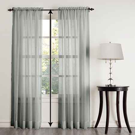 How to measure the length of outside mount curtains that extend to the floor
