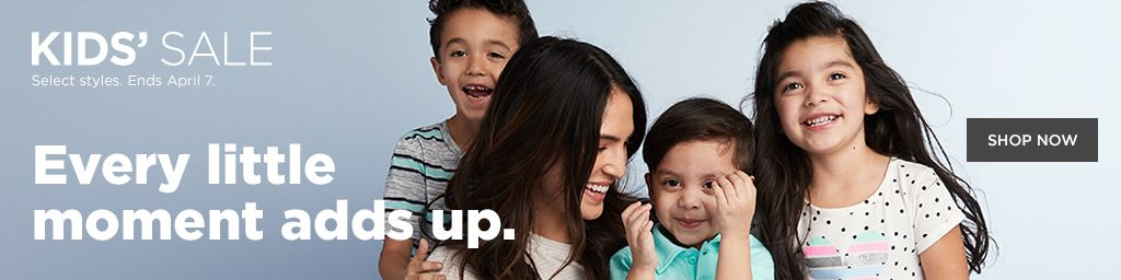 kohls kids sale ends April 7. Every little moment adds up.