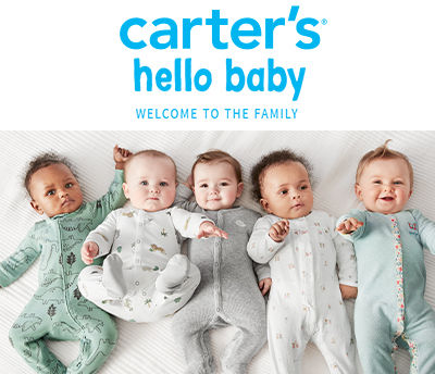 Carter's Hello Baby welcome to the family