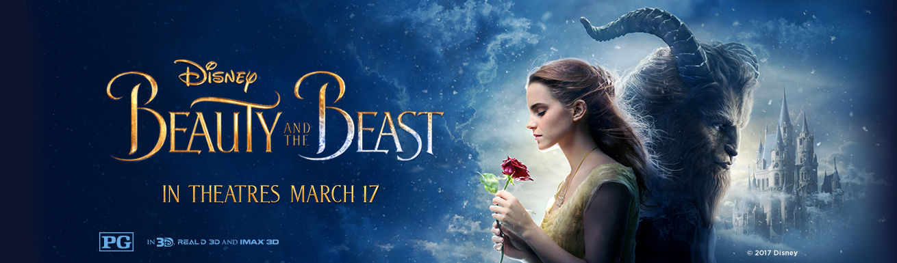 Disney—Beauty and the Beast—In Theatres March 17—PG—In 3D, Real 3D and IMAX 3D—© 2017 Disney