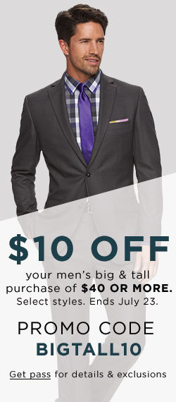 $10 off big & tall purchase