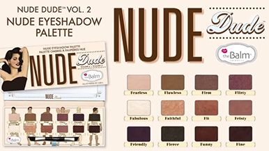thebalm nude'dude palette video