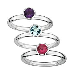 Stacks & Stones Gemstone Sterling Silver Stack Ring