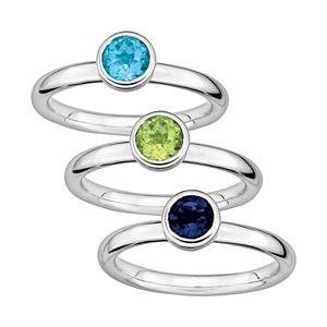 Stacks & Stones Gemstone Sterling Silver Stack Ring
