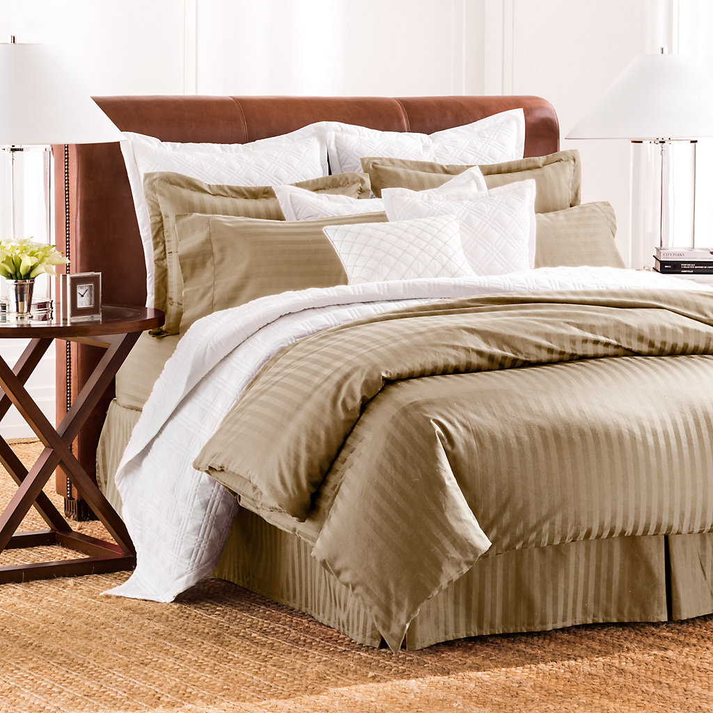 Chaps Damask Stripe Duvet Cover Collection