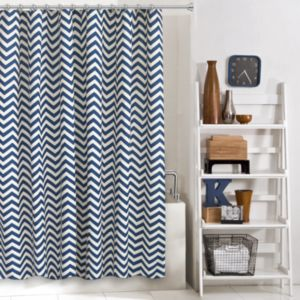 Colordrift Zigzag Shower Curtain Collection
