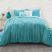 Seventeen Aqua Rouched Chevron Comforter Collection
