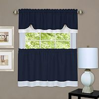 Achim Darcy Tier Kitchen Window Curtains