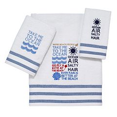 Avanti Beach Words Bathroom Towel Collection