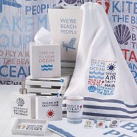 Avanti Beach Words Bathroom Accessories Collection