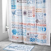 Avanti Beach Words Shower Curtain Collection