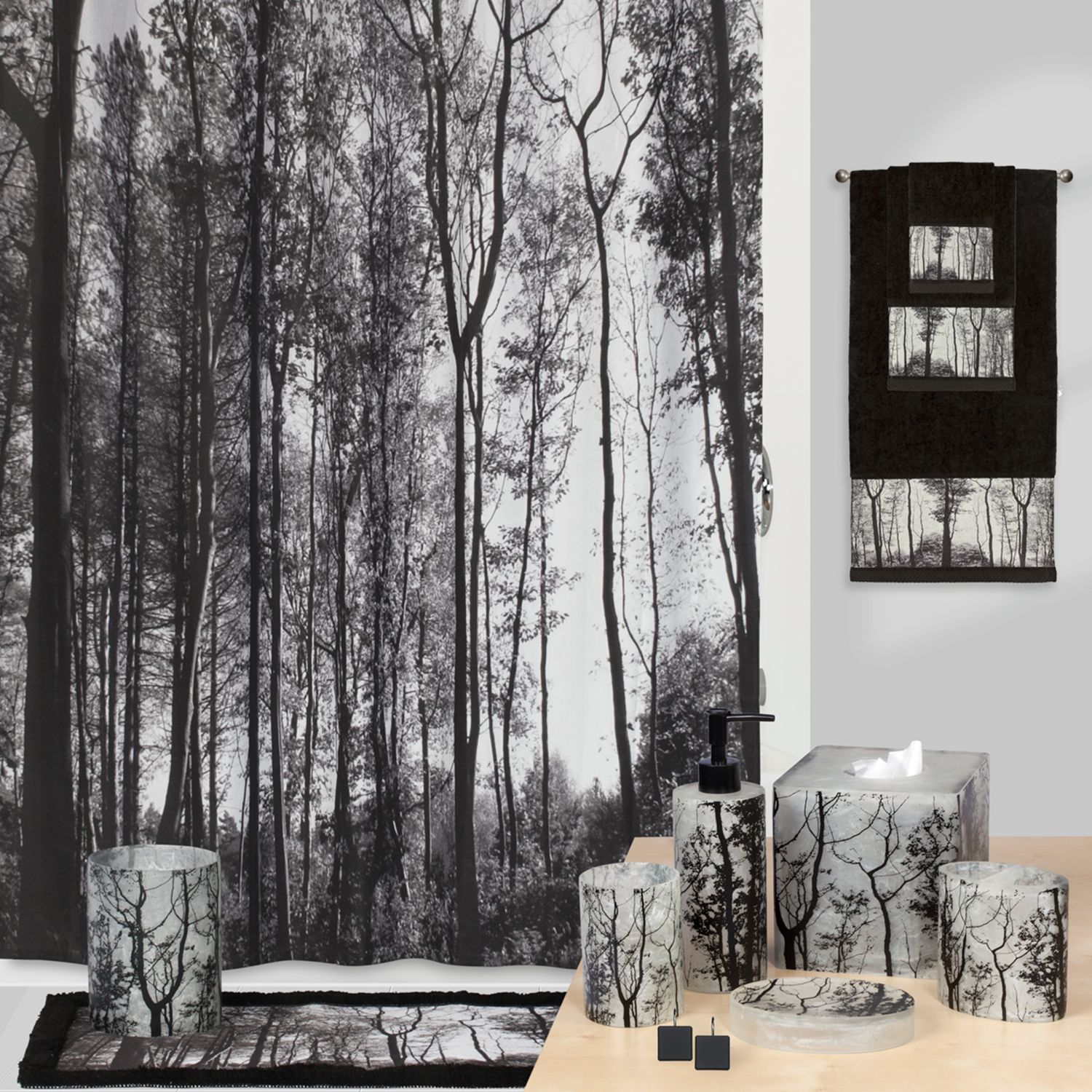 Captivating Creative Bath Sylvan Shower Curtain Collection