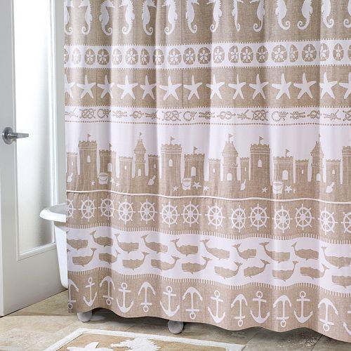 Avanti Sea Sand Shower Curtain Collection