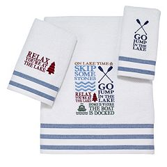 Avanti Lake Words Bath Towel Collection