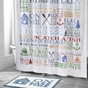 Avanti Lake Words Shower Curtain Collection