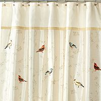 Avanti Gilded Birds Shower Curtain Collection