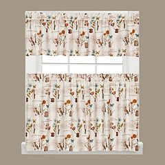 Saturday Knight, Ltd.  Le Jardin Tier Kitchen Window Curtains