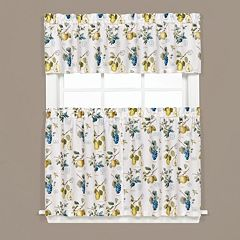 Saturday Knight, Ltd.  Botanical Fruit Tier Kitchen Window Curtains