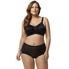 Elila Leopard Lace Full-Figure Bra & Panties Lingerie Separates
