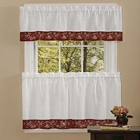 Achim Oakwood Tier Kitchen Window Curtains