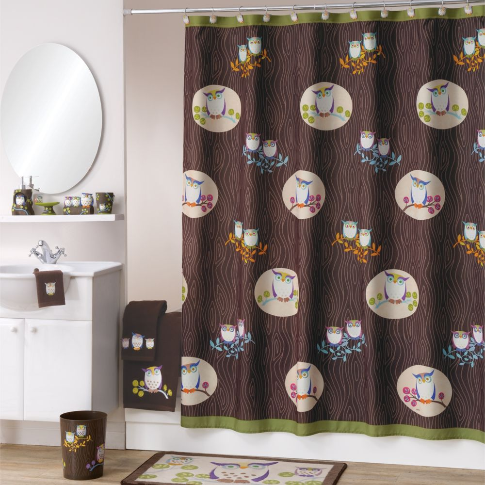 Bathroom Accessories Owls allure home creations awesome owls shower curtain collection