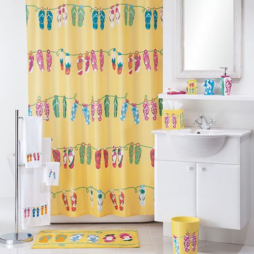 Allure Home Creations Sun Sand Shower Curtain Collection