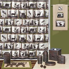 Hautman Brothers Rustic Montage Shower Curtain Collection