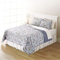 Home Classics® Sarah Purple Floral Quilt Collection
