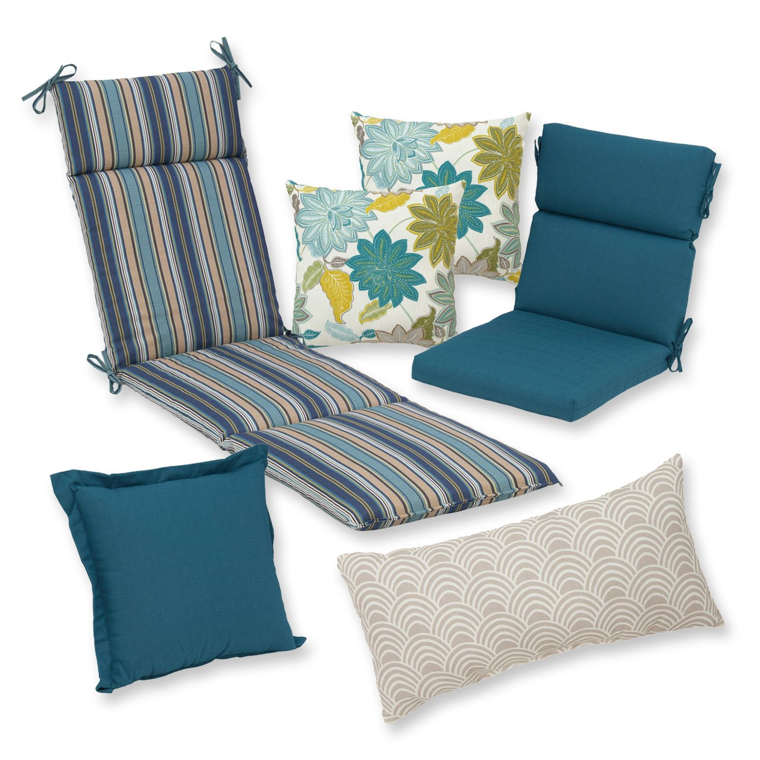Exceptional Plantation Patterns Patio Cushion Collection