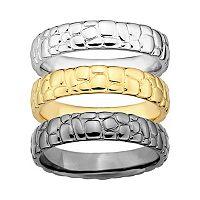 Stacks & Stones Pebbled Stack Ring