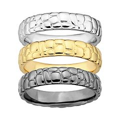 Stacks & Stones Pebbled Stack Ring